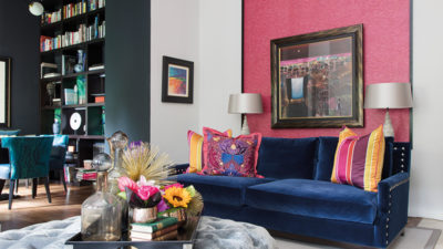 Vivid hues and bold patterns give this penthouse apartment a sense of identity that matches its unique dimensions