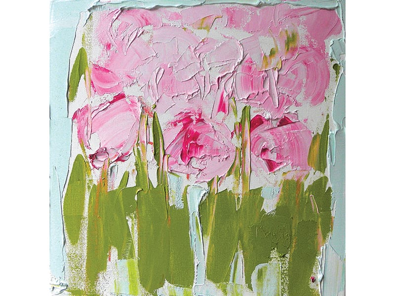 Painting of peonies