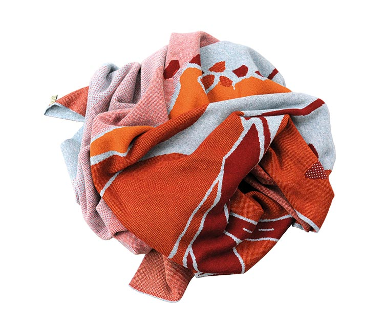 Russet Moor blanket, £540, Feldspar