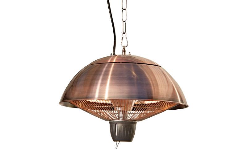 Hanging copper heater, £165, Cox & Cox