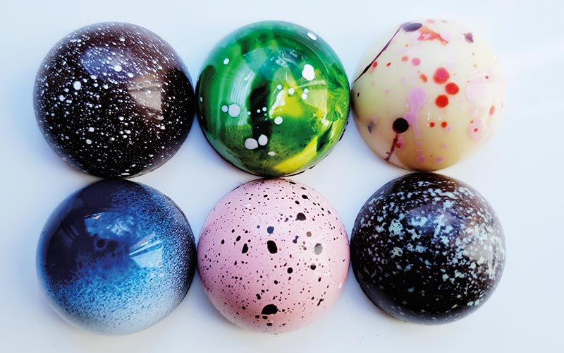 A selection of Sugarsnap's jewel-like bonbons