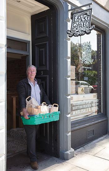 Graham Mills leaves the shop
