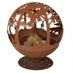 Rusty Red woodland fire bowl globe, £389, The Farthing