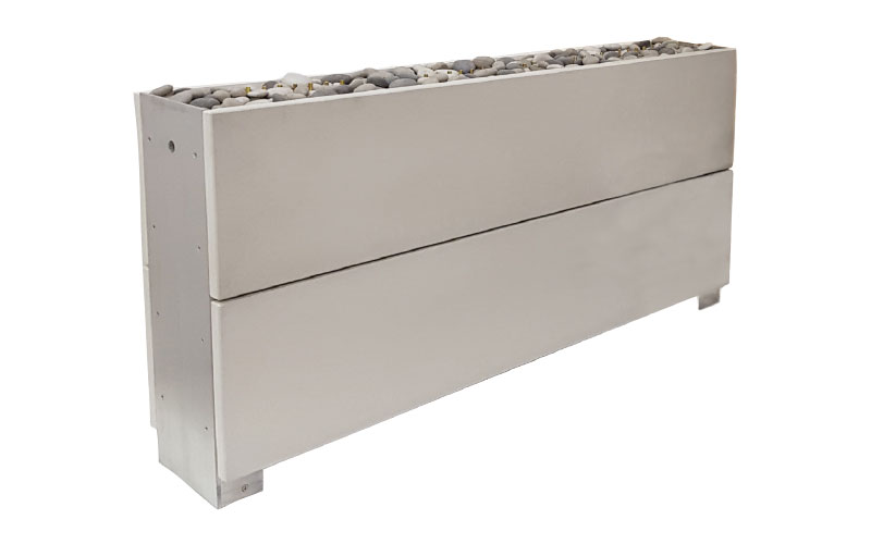 Solus Linear double-height gas firepit, £5,450, Solus Decor