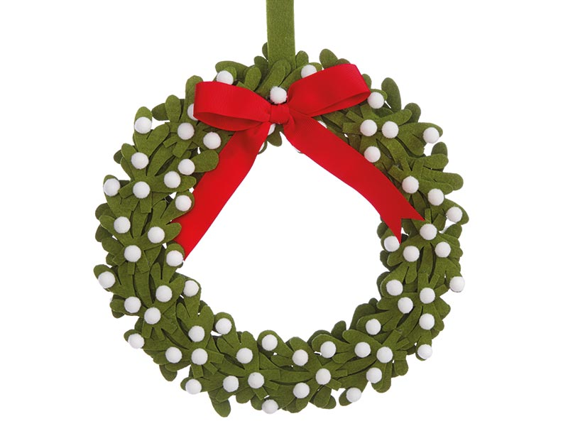 Felt mistletoe wreath, £18, Laura Ashley