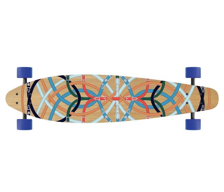 Cavalcadour print skateboard, £2,170, Hermès