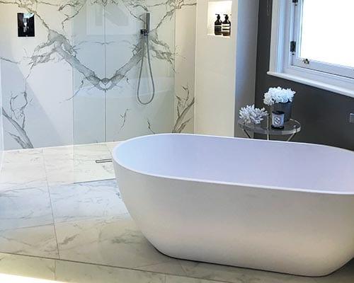 Freestanding bath by Waters Baths of Ashbourne