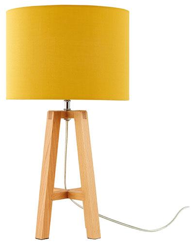 Theo Tripod Table Lamp in yellow, £29.99, Very