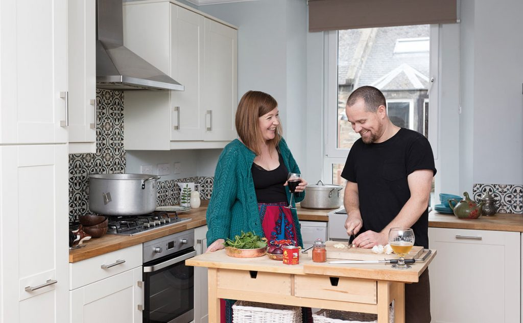 Susie and Steven in their kitchen