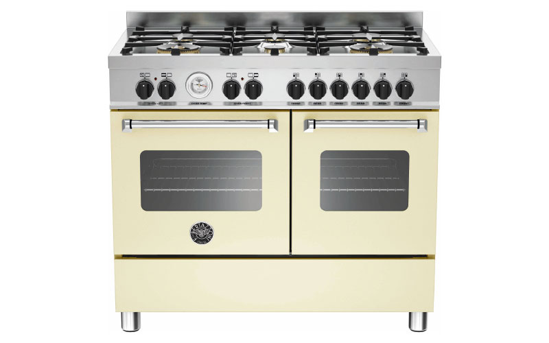 Master Series, 100 cm 6-burner electric double oven in cream, £2,199, Bertazzoni