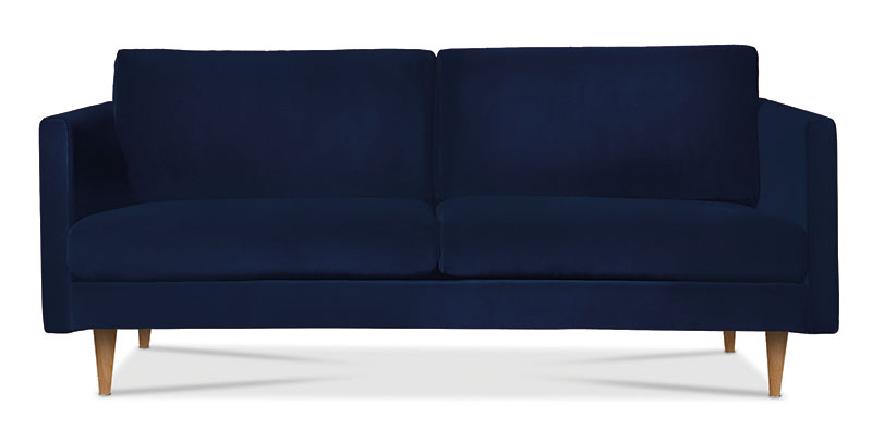 Tivoli two seater sofa in velvet indigo, £999, Swoon Editions