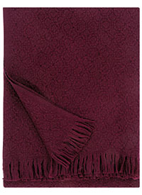 Corona Uni wool blanket in bordeaux, £106, Lapuan Kankurit