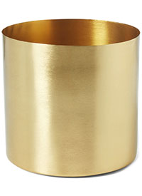 Beaumont plant pot in gold, £14, Made.com