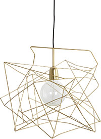 Brass wire shade, from £65, Room 356
