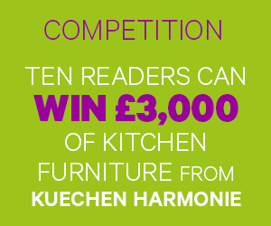 Competition: ten readers can win £3,000 of kitchen furniture from Kuechen Harmonie