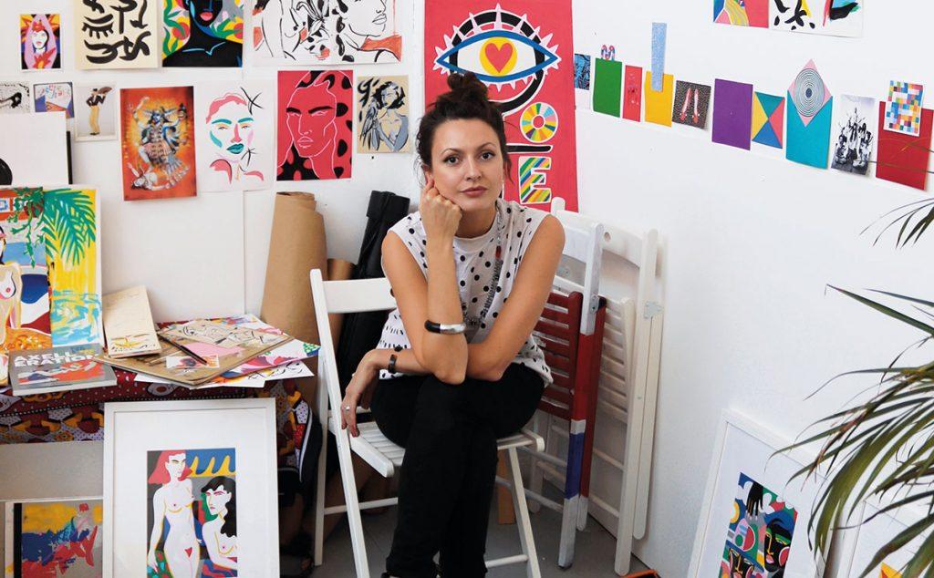 Lynnie Z in studio