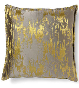 Daurat gold cushion, approx £133, Brabbu