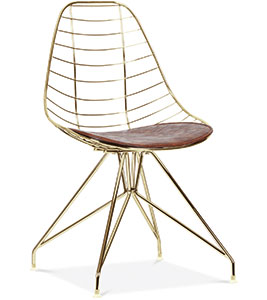 Moda wire metal dining chair Gold, £119, Cult Furniture