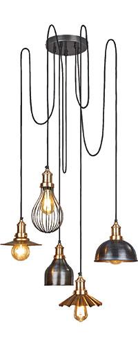 Globe cluster shade chandelier, £464, Industville