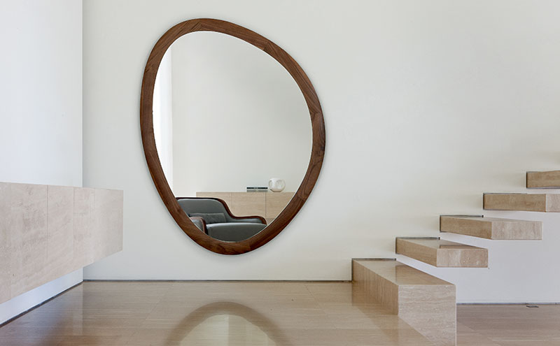 Giolo wall mirror by Porada, £1,855, Heal's