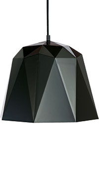 Geometric pendant light in black, £99.99, Dowsing and Reynolds