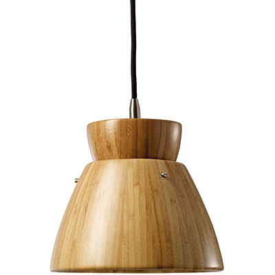 Natural bamboo pendant light, £149, Out & Out Original