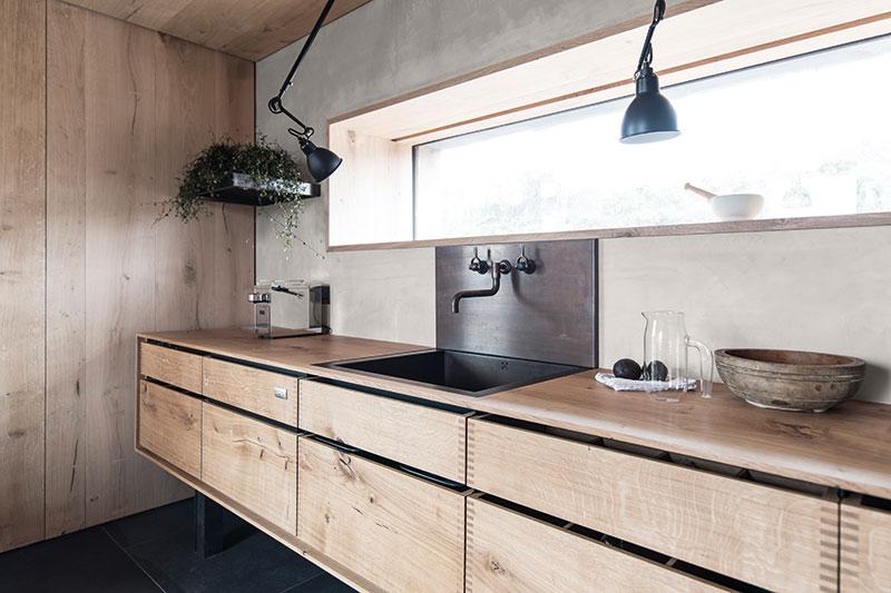 Garde Hvalsøe made the bespoke freestanding kitchen