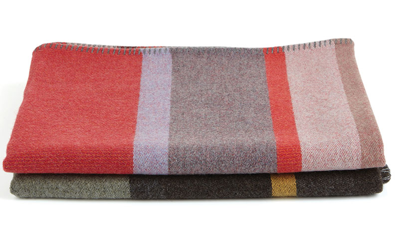 Lasdun lambswool block throw (large), £490, Wallace Sewell