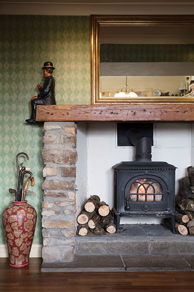 with no central heating in the farmhouse, log fires are essential