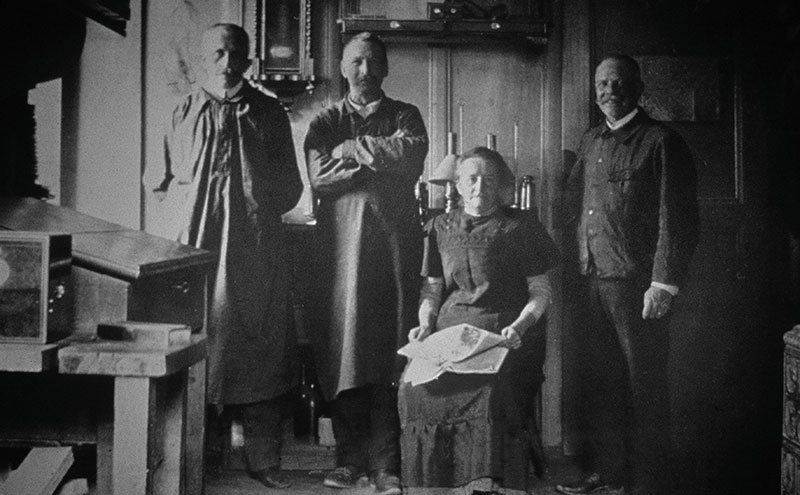 The workshop of Louis-Ulysse Chopard (on the right) in the 1890s