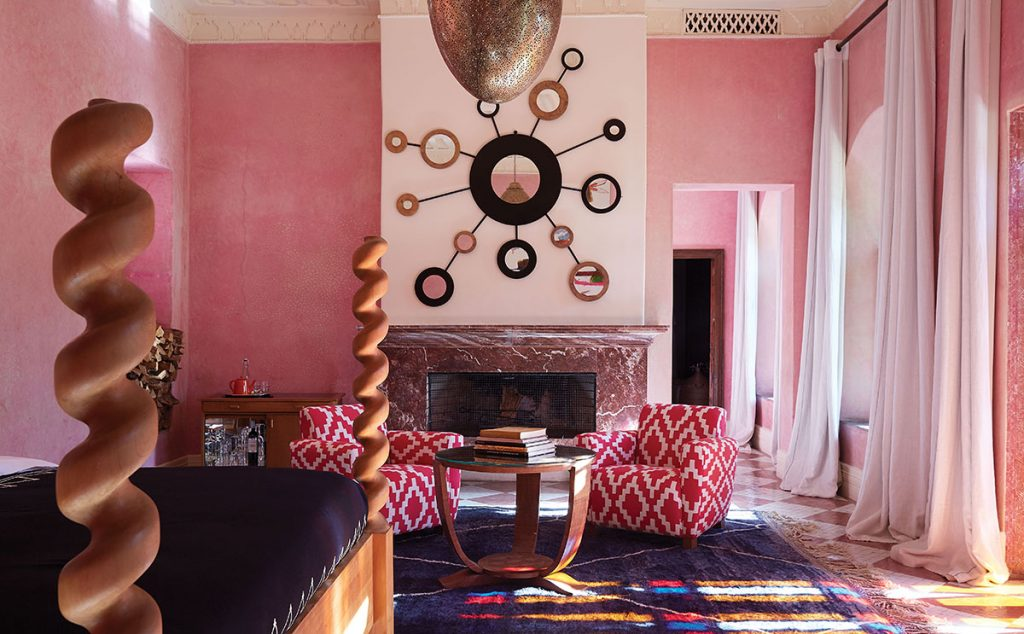 Colour is key at El Fenn, where celebrities including Madonna are known to appreciate the laidback luxury that Branson and her team have created