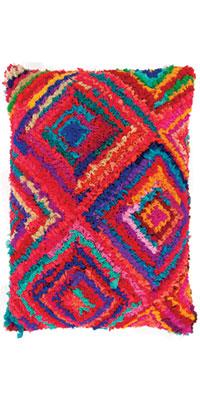 Multi coloured chindi cushion cover, £31.99, Ian Snow