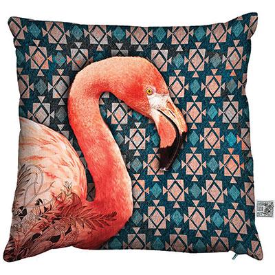Phenix flamingo coral house cushion, £40, Beaumonde
