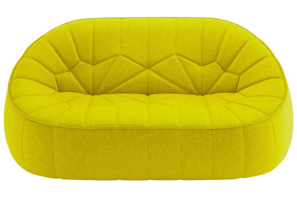 Ligne-Roset-Ottoman-Neon-Yellow-Sofa