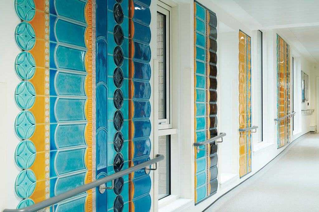 Victorian tile inspired wall by frances priest
