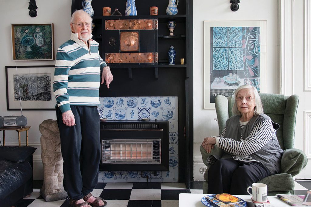 Norman gilbert and pat gilbert in their home