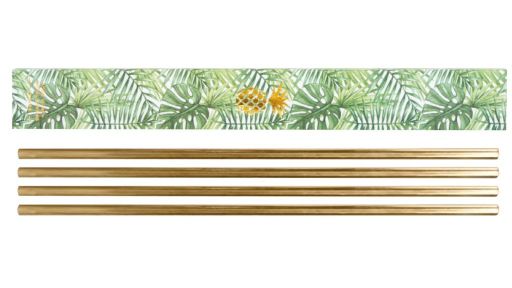 Metal straws, approx £17.50, Designist
