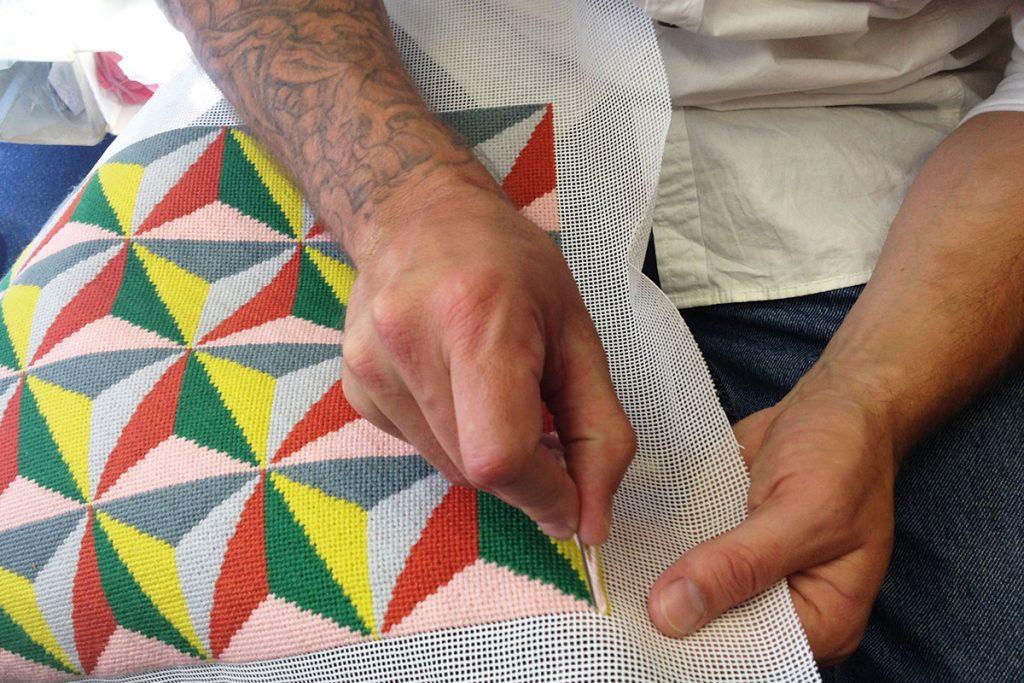 Stitching-a-pattern