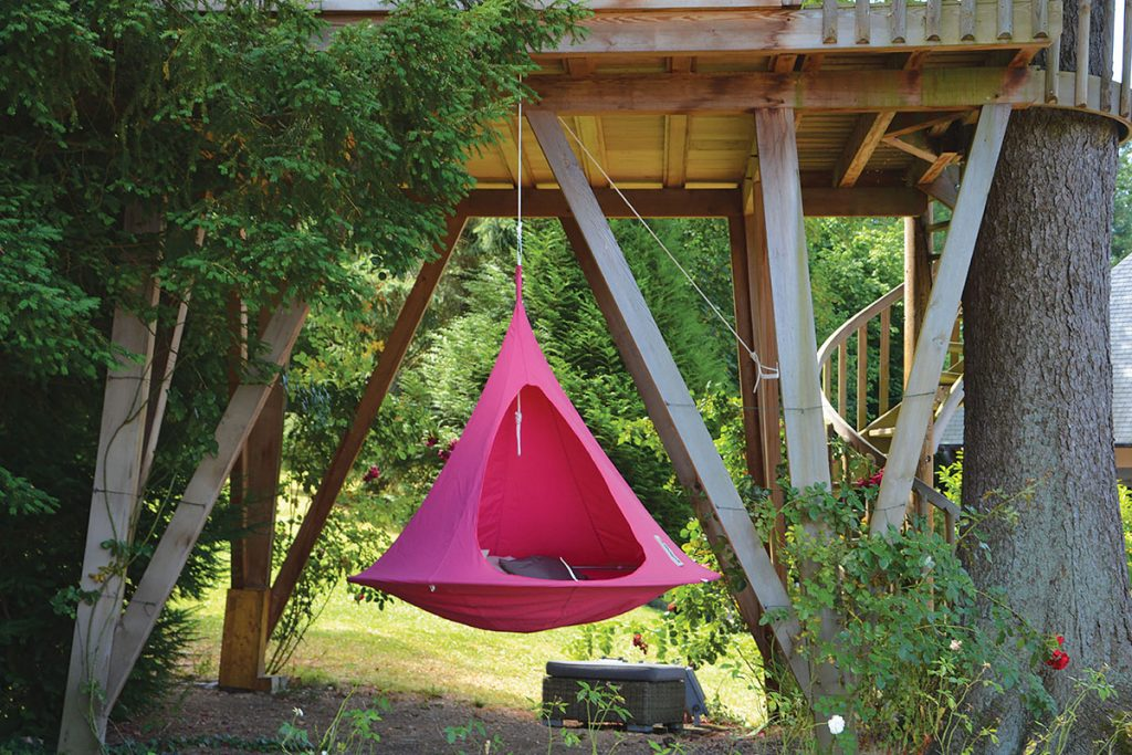 Cacoon double hanging chair swing, £345, Smithers of Stamford