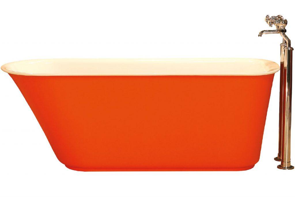 orange-freestanding-bath