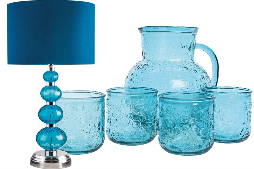 blue-glass-lamp-and-blue-glass-jug-and-glasses