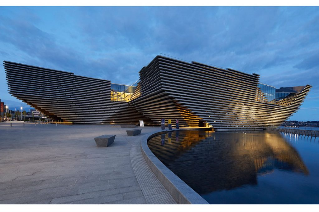 V&A Dundee (£80.1 m) Kengo Kuma & Associates with PiM.studio Architects and James F Stephen Architects for Dundee City Council