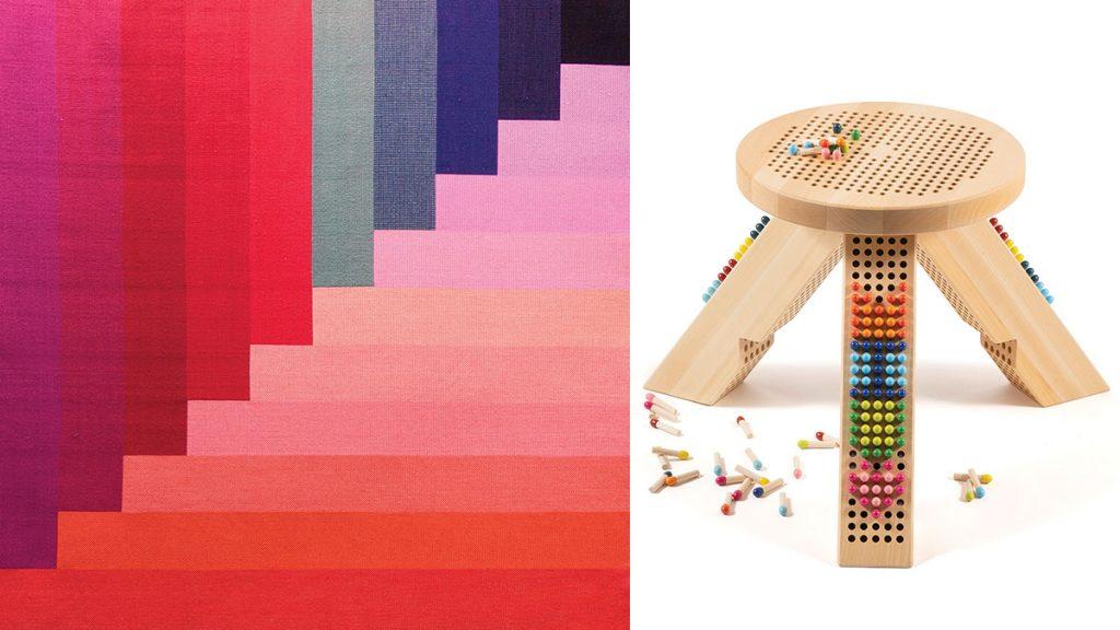 colourful-rug-and-mui-mui-footstool
