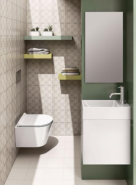 Catalano-Verso-50-basin-with-1-door-unit-in-matt-white-from-£656+vat-Zero-45-wall-hung-WC-from-£544+VAT