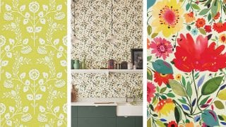 three-different-types-of-floral-kitchen-wallpaper