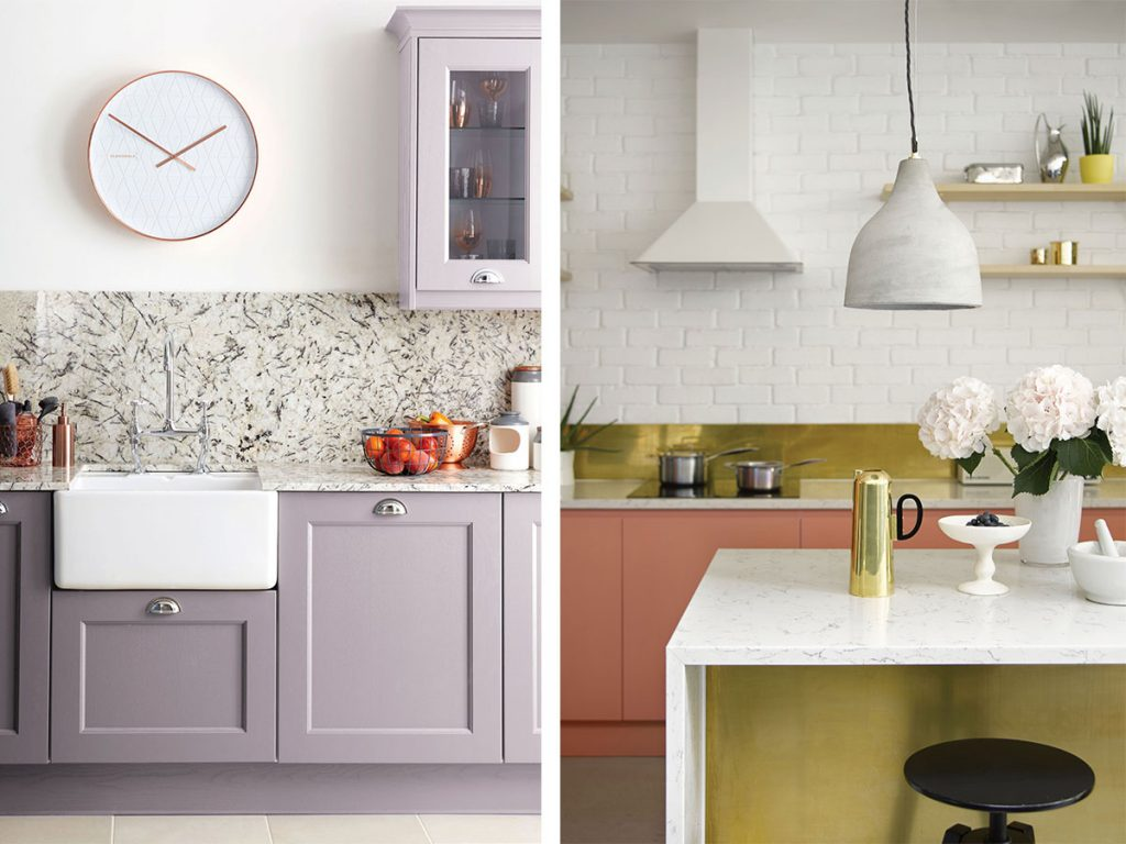pastel-grey-kitchen-contrasted-with-a-bright-yellow-kitchen