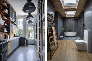 bright-kitchen-and-bathroom-with-skylight