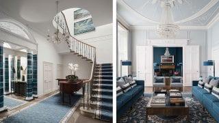 hallway-of-house-in-edinburgh-and-blue-living-room