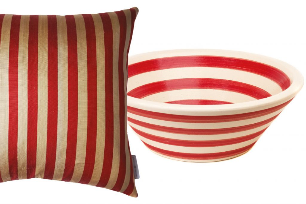 red-stripe-cushion-and-bowl