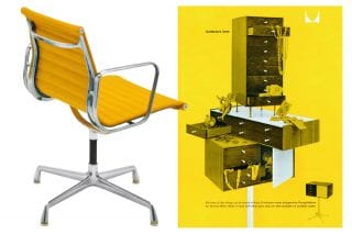 yellow-chair-and-advert